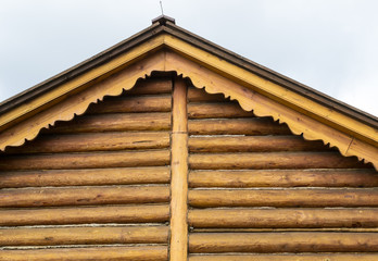 Wood carving, gable, architectural element