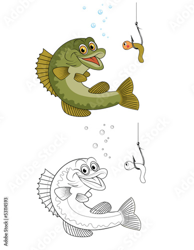 Malvorlage Fisch Angeln Stockfotos Und Lizenzfreie Vektoren Auf