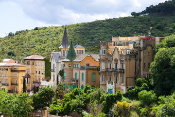 Picturesque houses at Tibidabo mount. Barcelona