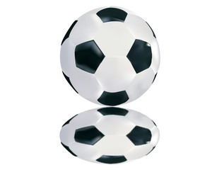 soccer ball with reflection
