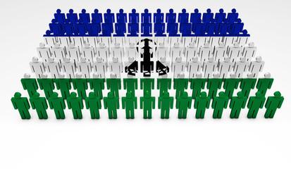 Lesotho Flag Parade