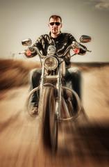 Fototapete - Biker