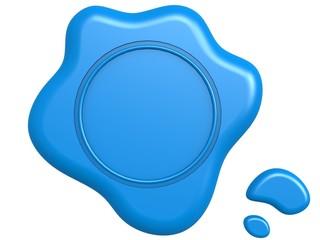 Blue seal blank