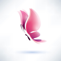 pink butterfly vector symbol