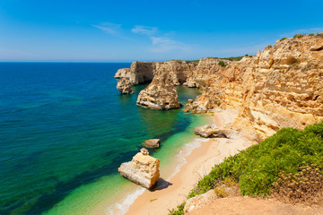 Wall Mural - Marinha Beach in Algarve Portugal