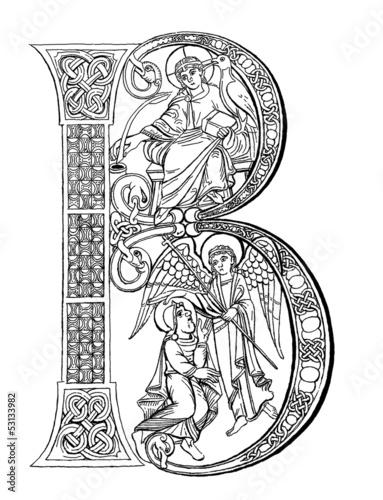 Lettrines Médiévales à Imprimer