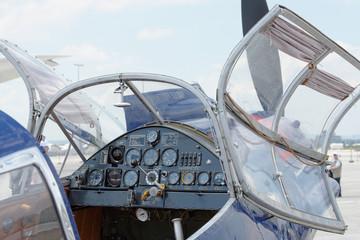 Cockpit Leichtflugzeug