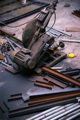 cutting machine and steel materials