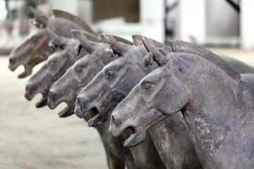 Foto op Aluminium Xian Ancient terra cotta horse