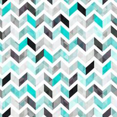 Poster ZigZag turquoise shiny vector background