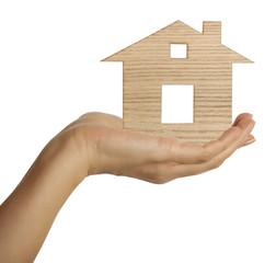 House in female hand