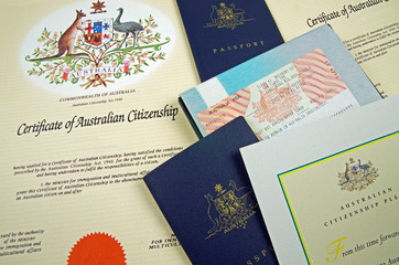 Fotorolgordijn Australië australian citizenship documents