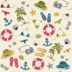 Summer vacation holiday seamless pattern