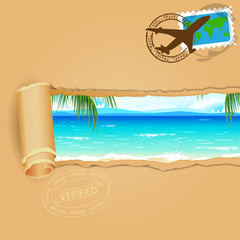 Travel Background for Sea Beach