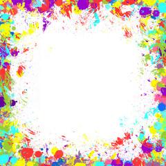 Colorful stroke border frame