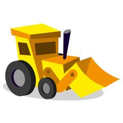 Vector Cartoon Bulldozer