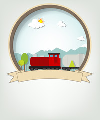 emblem with train