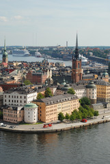 View of Old Town (Gamla Stan) in the center of Stockholm