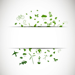 Vector Illustration of Green Ecology Icons