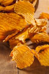 Crispy Orange Sweet Potato Chips