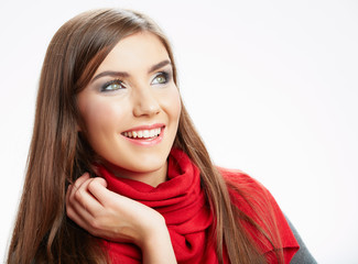 Young woman studio portrait