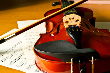 violin and note music