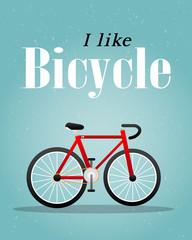 Bicycle Retro Illustration