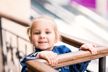 Cute little child in shopping mall