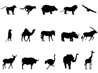 africa animals silhouettes