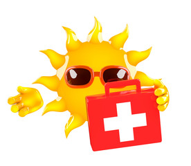 Sunshine is ready with first aid