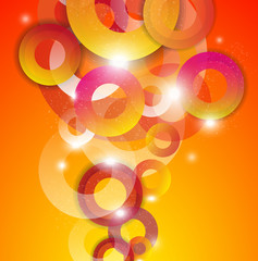 Vector abstract background: colorful circles