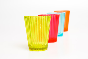 Smalll colorful plastic glasses