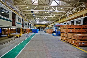 Shop floor at factory