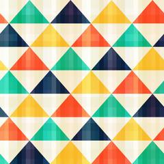 Poster ZigZag seamless triangle pattern