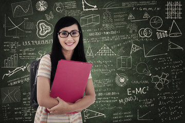 Asian female student at classroom