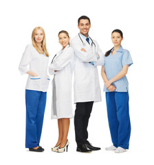 young team or group of doctors