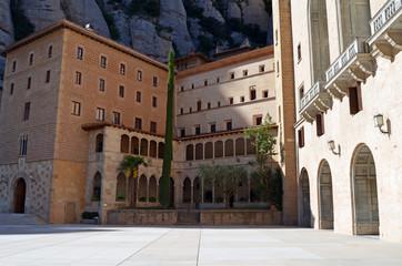 Vista parcial del Monasterio de Montserrat
