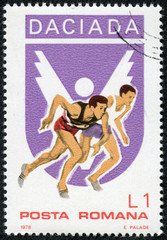 stamp printed by Romania, show Running