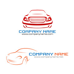 2 styles car company logo vector illustration
