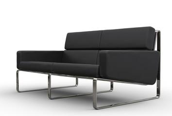 Black Sofa Side View
