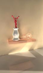 Regal Vase Glaskugel
