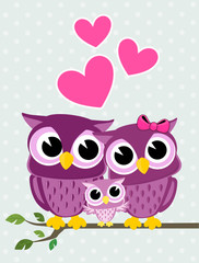 owls family love