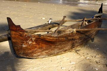 boat oar   and coastline