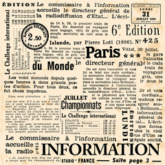 Autocollant pour porte Journaux Information background