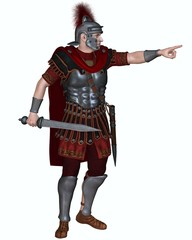 Roman Centurion Ordering an Attack