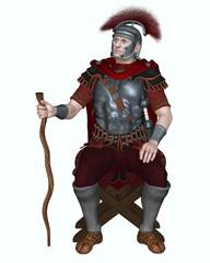 Roman Centurion with Transverse Crest and Vine Staff