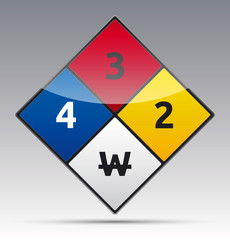 Hazard diamond symbol