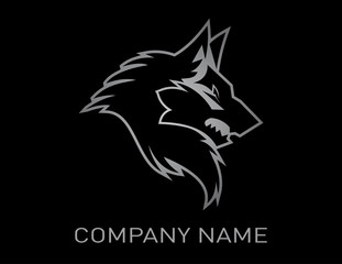 wolf design black background