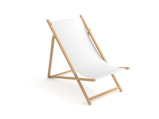 Liegestuhl weiß