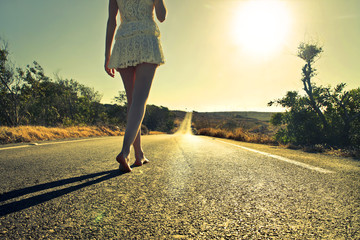 walk on the road